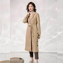 品牌小众风衣外套高个子女装170-175欧美 韩版学生设计感中长款复