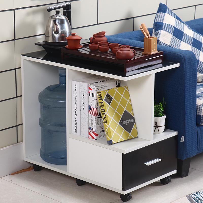 现代简约移动带轮茶几带轮小茶桌客厅小户型沙发边几角几迷你茶车