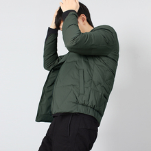 Men's baseball collar light down jacket winter youth diamond-shaped short self-cultivation down jacket collision color trend