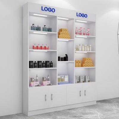 超市货架展柜展架隔断陈列柜精品展示柜护肤化妆品美容药店货柜
