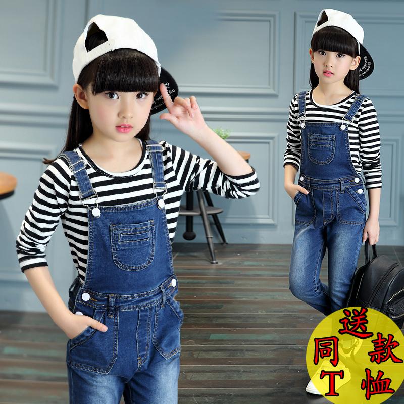 韩版女小童装套装