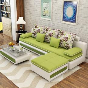 简约小户型布艺沙发家具转角可拆洗三人布沙发客厅整装组合套装