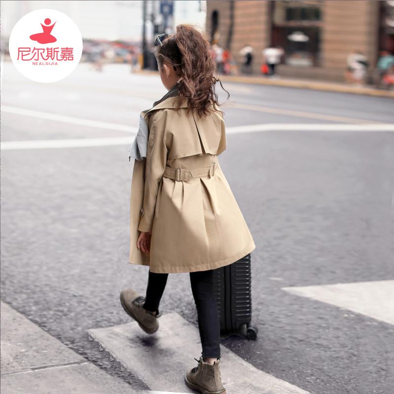 女童风衣2019秋装新款韩版儿童装薄款洋气大童中长款女孩春秋外套
