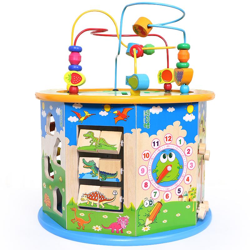 儿童绕珠百宝箱玩具0-1-2-3周一岁宝宝益智男孩婴儿智力串珠女孩
