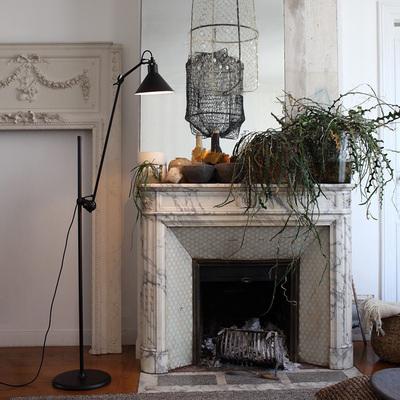 北欧工业风客厅沙发落地灯美式简约书房卧室立式台灯摇臂可升降