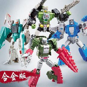 卡高静态金属玩具变形模型玩具W8058A机器人