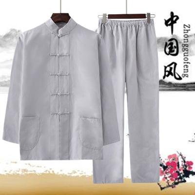 特价纯棉唐装男套装汉服中国风中式古装茶服禅修居士服春夏两件套