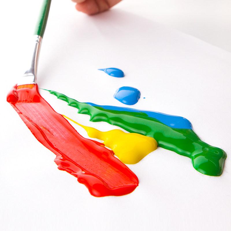 美乐500ml儿童绘画颜料无毒可水洗宝宝手指画diy水彩画水粉画套装