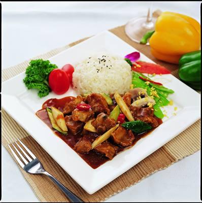 广州蒸烩煮红烧排骨210克料理包方便米饭冷冻快餐速食便当简餐盒
