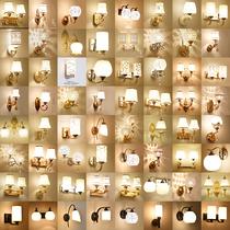 创意北欧风走廊现代简约床头前房间绿植物实木装饰墙壁挂卧室壁灯