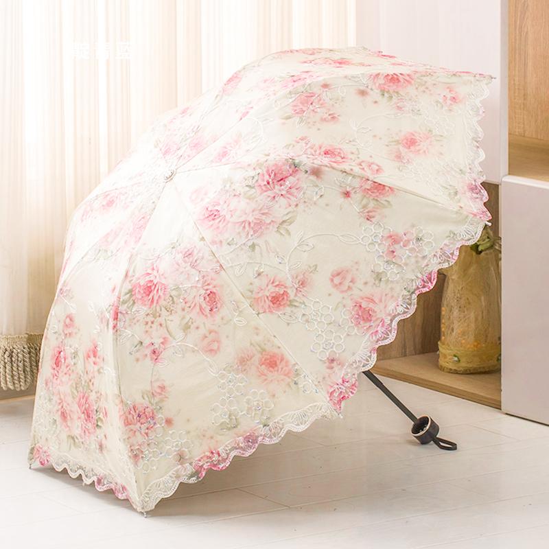 蕾丝防紫外线太阳伞