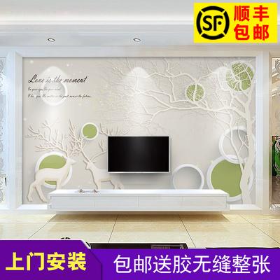 电视背景墙壁画3d立体墙纸欧式5d 客厅影视墙墙布8d现代简约壁纸网友购买经历