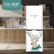 包邮简约北欧可爱小鹿冰箱翻新贴画防水自粘装饰贴画空调创意贴纸