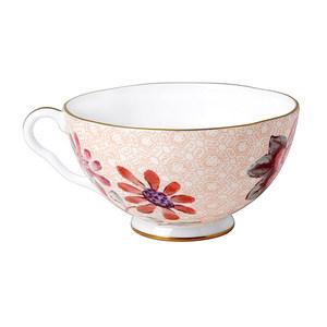 Wedgwood玮致活 Cuckoo布谷鸟桃红色骨瓷杯碟 英式茶/咖啡杯碟
