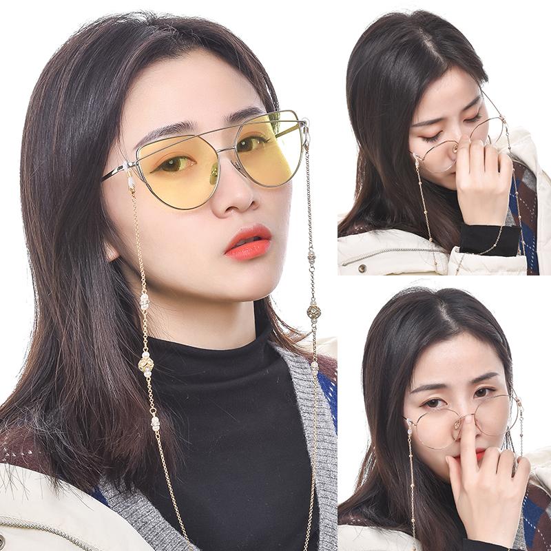 眼镜链条 挂脖复古洛丽塔金属时尚装饰链子女创意简约防滑眼睛绳