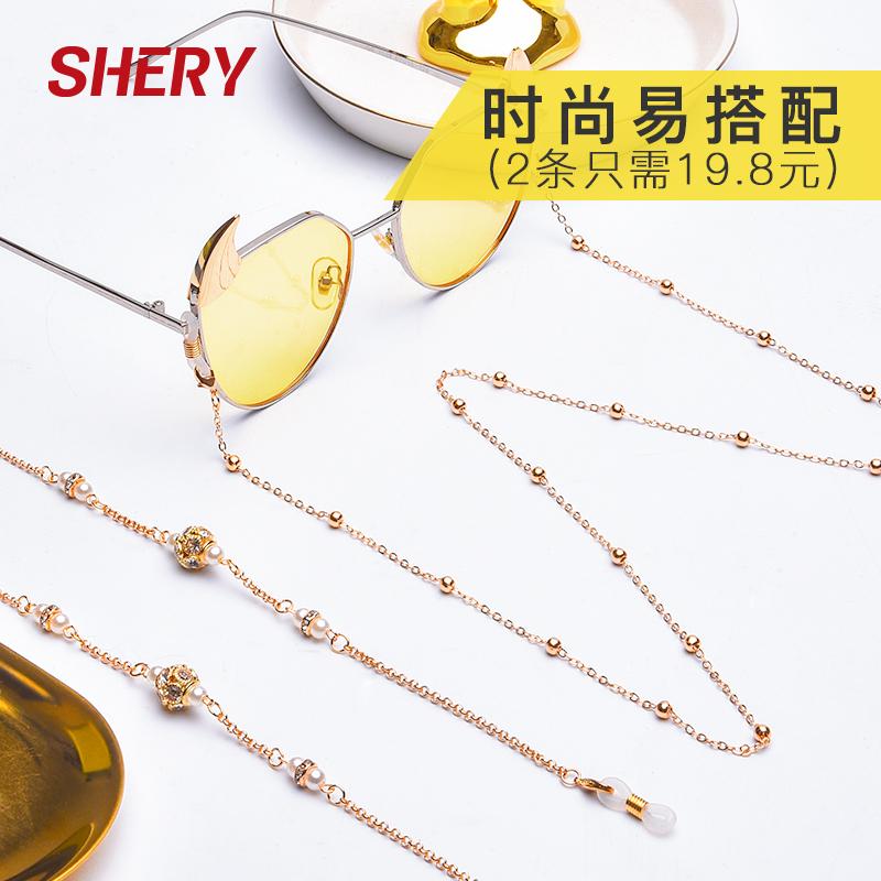 眼镜链条挂脖复古洛丽塔金属时尚装饰女网红创意简约防滑眼睛绳子
