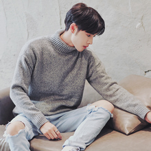 针织衫 潮流青少年高领毛衣加绒加厚韩版 学生宽松外套 冬季男装 男士图片