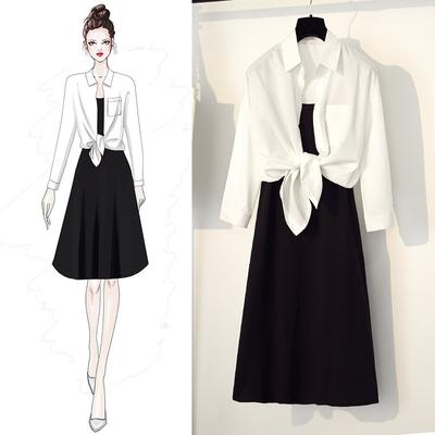 哺乳衣秋季新款时尚长袖套装辣妈款连衣裙产后外出喂奶上衣两件套