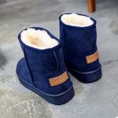 鞋子女冬季加绒2017新款韩版学生百搭雪地靴短筒平底棉鞋保暖短靴