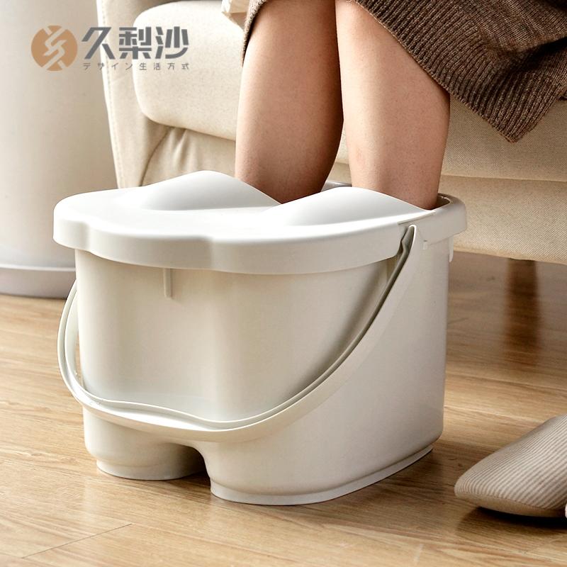 家用塑料洗脚盆洗脚桶日式足浴盆按摩滚轮泡脚桶大号足浴桶泡脚盆