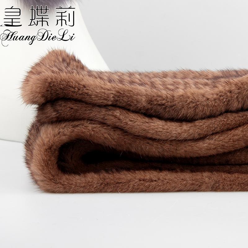 送礼围巾 水貂围巾柔软整皮编织皮草围脖加厚高档围巾