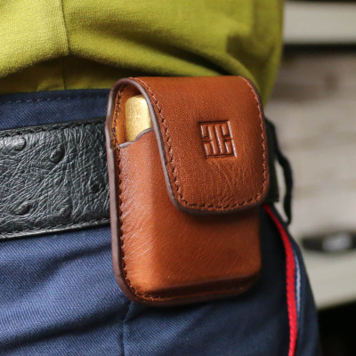 KUBOY酷宝 煤油打火机皮套常规机通用保护套磁扣穿戴打火机牛皮套