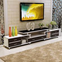 包邮简约现代伸缩电视柜小户型欧式客厅电视机柜钢化玻璃茶几组合