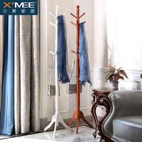 衣帽架实木欧式简约简易现代挂衣架卧室家用创意客厅落地衣服架子