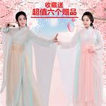 三生三世白淺古裝同款服裝兒童仙女cos春夏涼涼舞蹈古箏表演出