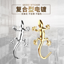 Auto exterior decoration ideas to the rear of the standard gecko car stickers 3 d scratches shade personality metal stickers