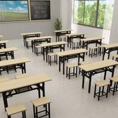 中小学生课桌椅培训桌辅导班培训班学校桌子可折叠补习班桌椅批发