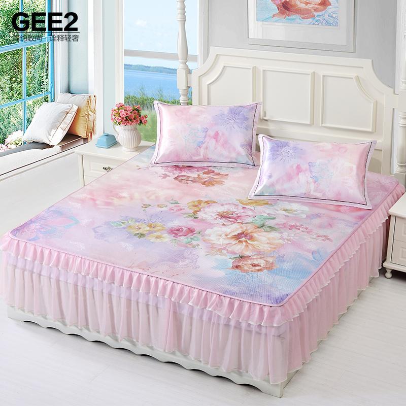极适凉席1.8米床裙冰丝席三件套1.5m夏季床单席子可折叠水洗机洗