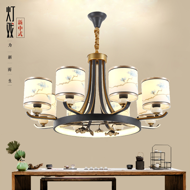 别墅中式客厅吊灯