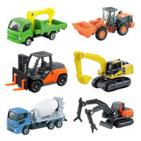 TOMY Dome card alloy car boy toy engineering truck bulldozer excavator transport truck forklift