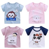 宝宝短袖t恤0夏季男童童装1纯棉婴儿上衣2儿童打底衫3女童夏装5岁
