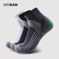 MEIKAN美看 男士袜子 户外徒步袜功能袜户外袜子 半毛圈压力袜