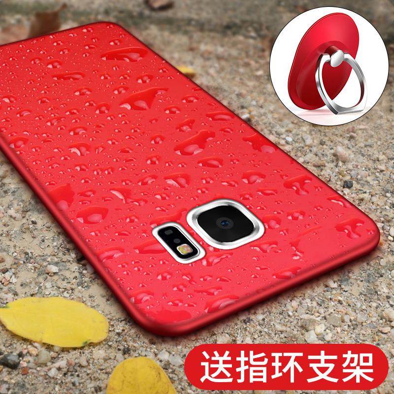 三星s6手机壳s6edge保护套曲面屏直屏防摔支架超薄硅胶磨砂男女新