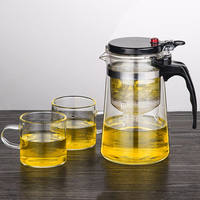 Elegant cup removable and washable Kung Fu teapot home tea machine full filter liner glass teapot set tea set