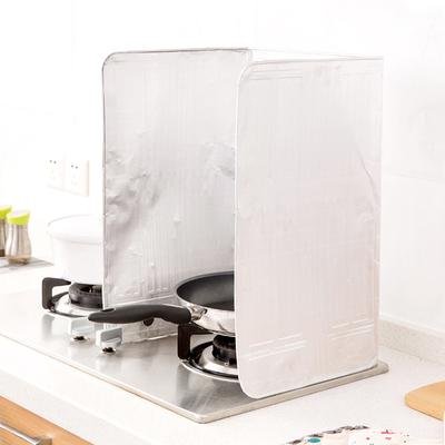 厨房煤气灶台挡油板 炒菜防油溅挡板 电器隔热铝箔防油贴隔油板
