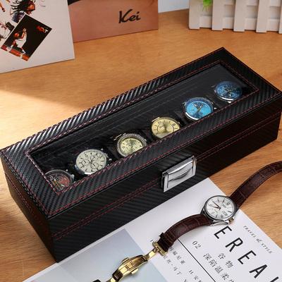 雅珀欧式六位手表收纳盒皮质首饰盒手表展示盒礼盒手链箱子带锁
