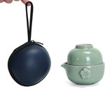 Long Yao Ge Kiln Quick Cup One Pot Two Cups Portable Travel Ceramic Kung Fu Tea Set Two Tea Cups One Teapot