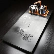 琨德整块乌金石茶盘功夫茶具全自动四合一家用整套石头茶台电磁炉
