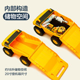 Bigfoot Trolley Case Construction Vehicle Men and Women Children Boarding Suitcase Luggage 3-6 Years Old Baby Can Sit