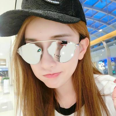 太阳镜2018女潮眼镜新款优雅复古墨镜圆脸网红女士明星款韩国个性