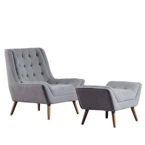 美式客厅居家卧室单人休闲沙发椅子咖啡厅桌椅办公室午休懒人躺椅