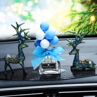 汽车摆件一路平安鹿车内装饰用品告白气球个性创意可爱车载女 男
