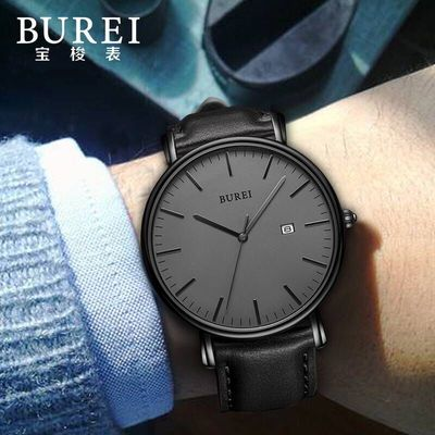 正品BUREI宝梭手表男士全自动机械表防水潮流超薄男表腕表简约