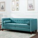 欧式绒布双人沙发