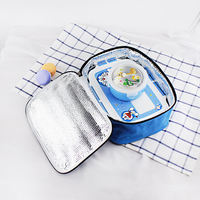 Cartoon lunch box bag primary and secondary school students large waterproof insulation bag thickening children's lunch portable lunch with rice bag