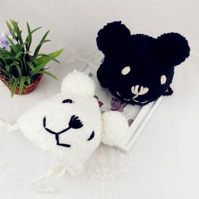 宝宝小熊毛线帽